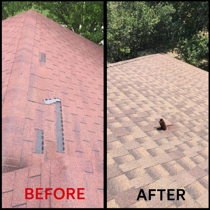Roof Replacement Before and After 1
