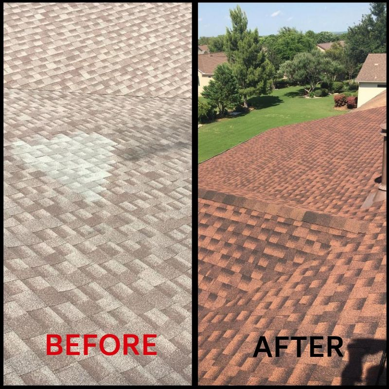 Roof Replacement Before and After 2